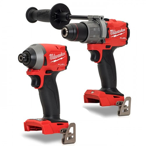 Milwaukee 3rd Gen FUEL M18FPD2-0 Percussion Drill and M18FID2-0 Impact Driver (Body Only)
