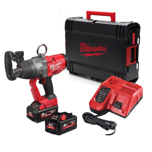 Milwaukee M18ONEFHIWF1-802X 18V 2x8.0Ah 1in M18 ONE-KEY High Torque Impact Wrench Kit