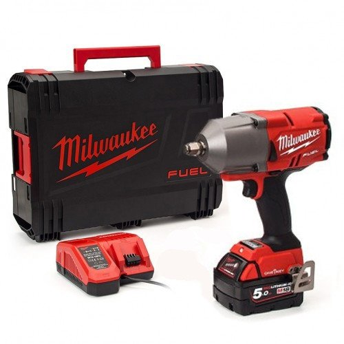 "Milwaukee M18ONEFHIWF12-501X 1898Nm FUEL One Key 1/2"" Impact Wrench, 5.0Ah Battery, Charger & Case"