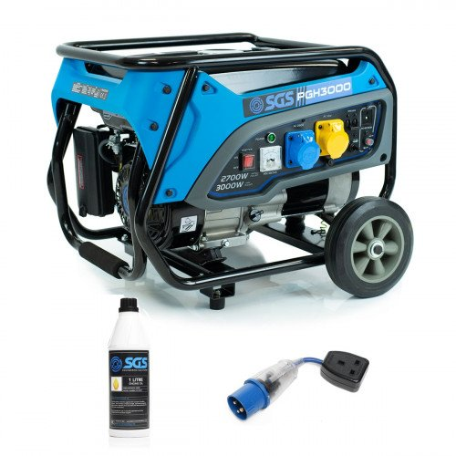 SGS 3.75 kVA Heavy Duty Portable Petrol Generator With Wheel Kit, Oil and Flylead
