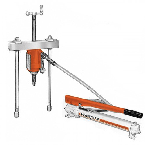17.5 Ton Hydraulic Push-Puller Set - Puller, Cylinder, Pump & Accessories