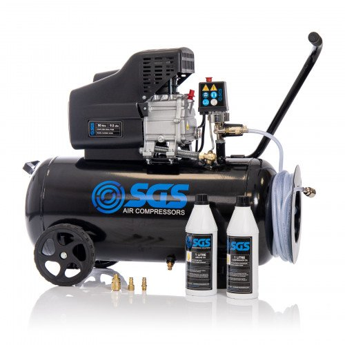 SGS 50 Litre Air Compressor with Starter Kit
