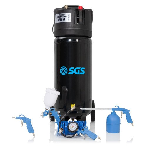 SGS 50 Litre Direct Drive Vertical Air Compressor with 5 Piece Tool Kit
