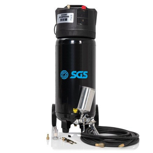 SGS 50 Litre Oil Free Direct Drive Vertical Air Compressor with Spray Gun Kit