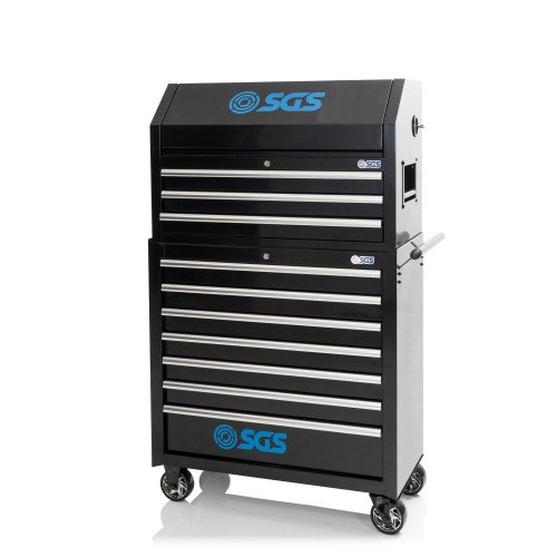 """SGS 36"""" 10 Drawer Professional Tool Chest & Roller Cabinet With Power Sockets"""