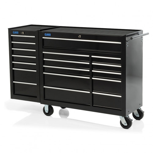 "SGS 58"" Professional 18 Drawer Tool Cabinet & Side Locker"