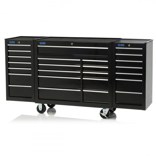 "SGS 75"" Professional 25 Drawer Tool Cabinet & Side Locker"
