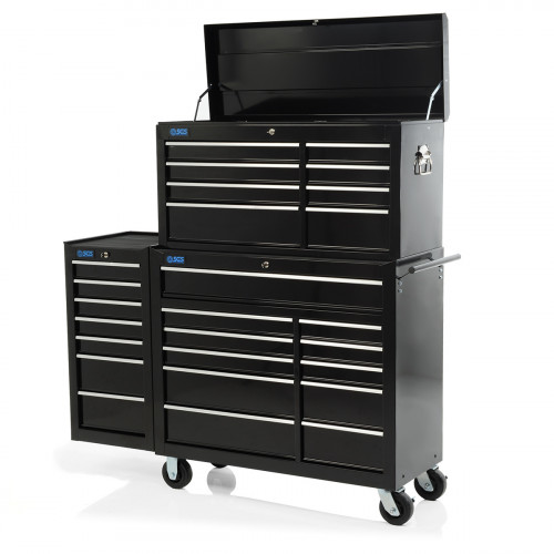 """SGS 58"""" Professional 26 Drawer Tool Chest, Cabinet & Side Locker"""