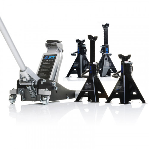 1.5 Ton Aluminium Racing Trolley Jack With Four Axle Stands