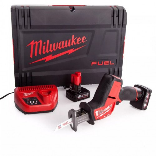 Milwaukee M12CHZ-602X 12v FUEL Hackzall, 2x 6.0Ah Batteries, Charger and Case