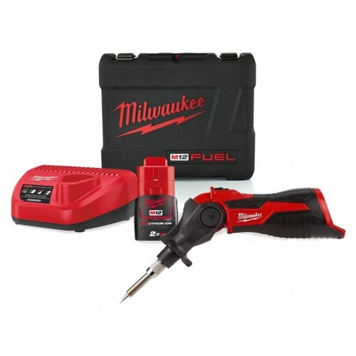 Milwaukee M12SI-201C 12v Soldering Iron, 2Ah Battery, Charger & Case