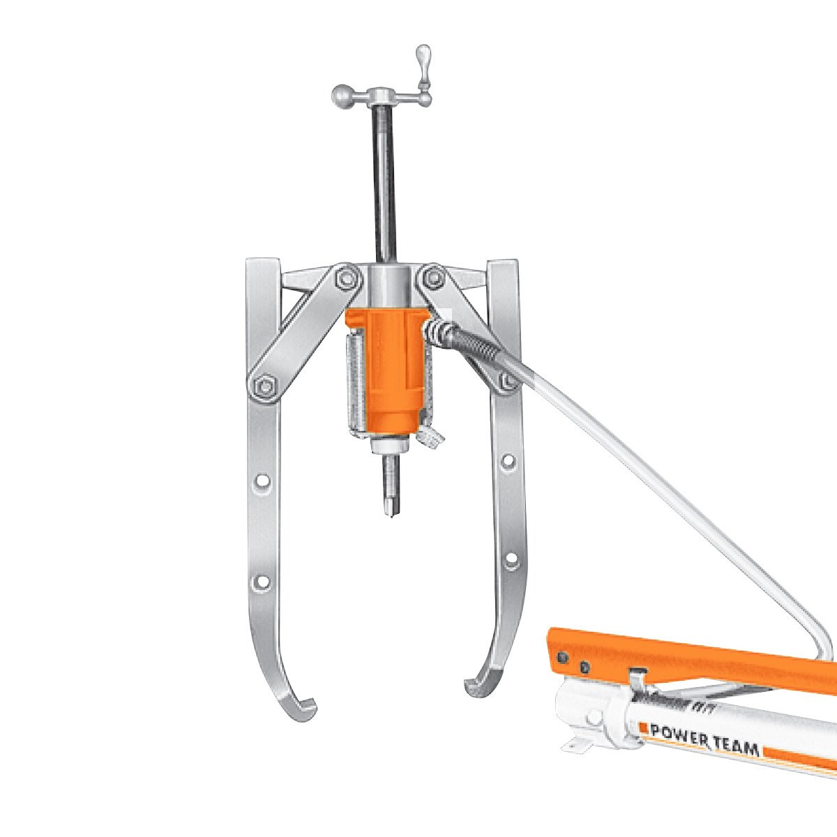 Hydraulic Fishing Pullers : Ton combination jaw hydraulic puller