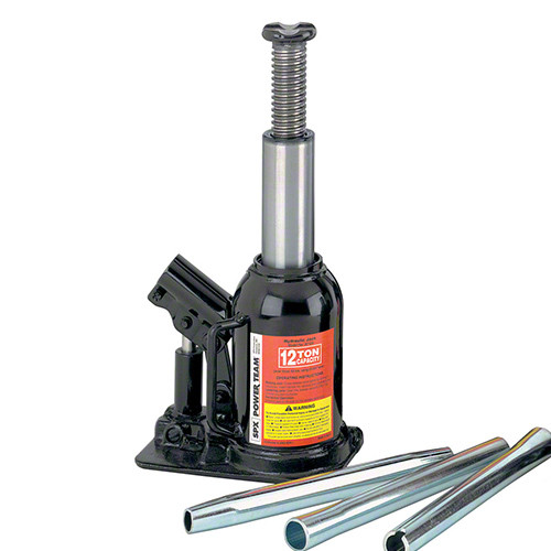 12 Ton Power Team Low Profile Bottle Jack With 95mm Stroke