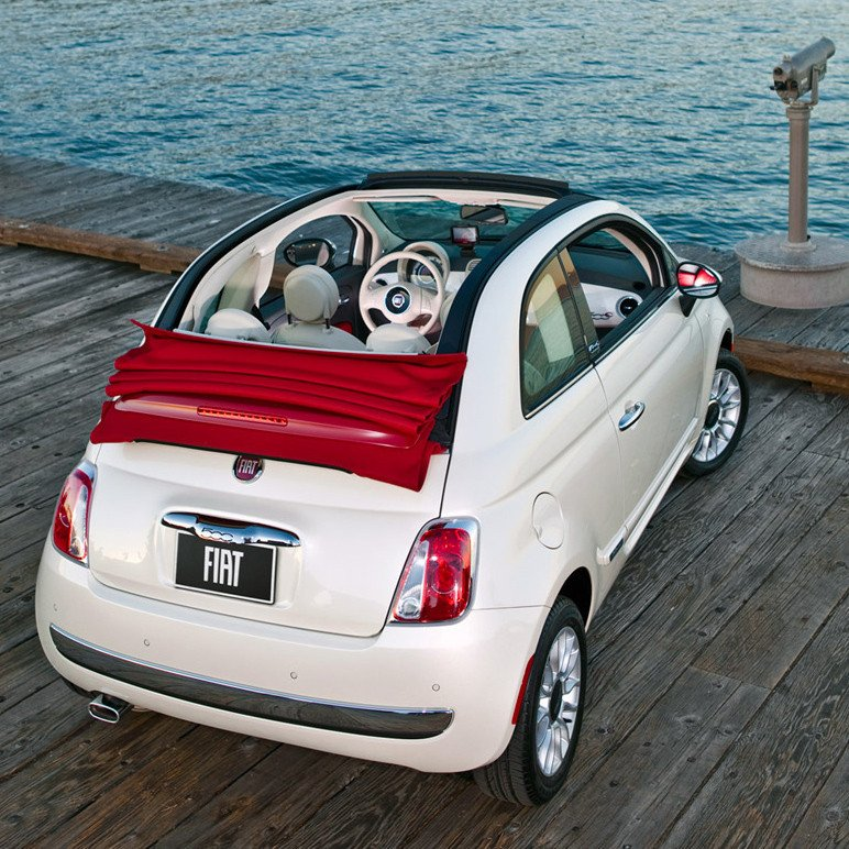 Fiat 500 Cabriolet Tailgate Boot Gas Strut