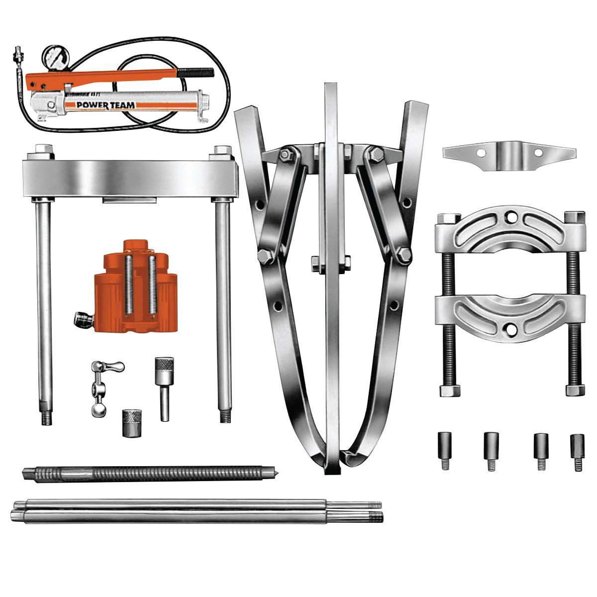 Spx hydraulic pullers : Ton hydraulic puller set ips h