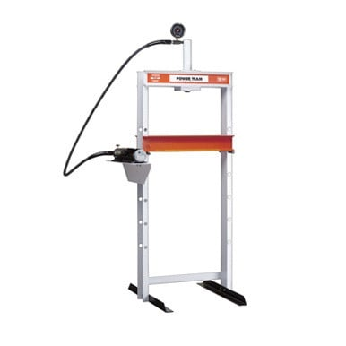 10 Ton Power Team H frame press with a lifetime warranty