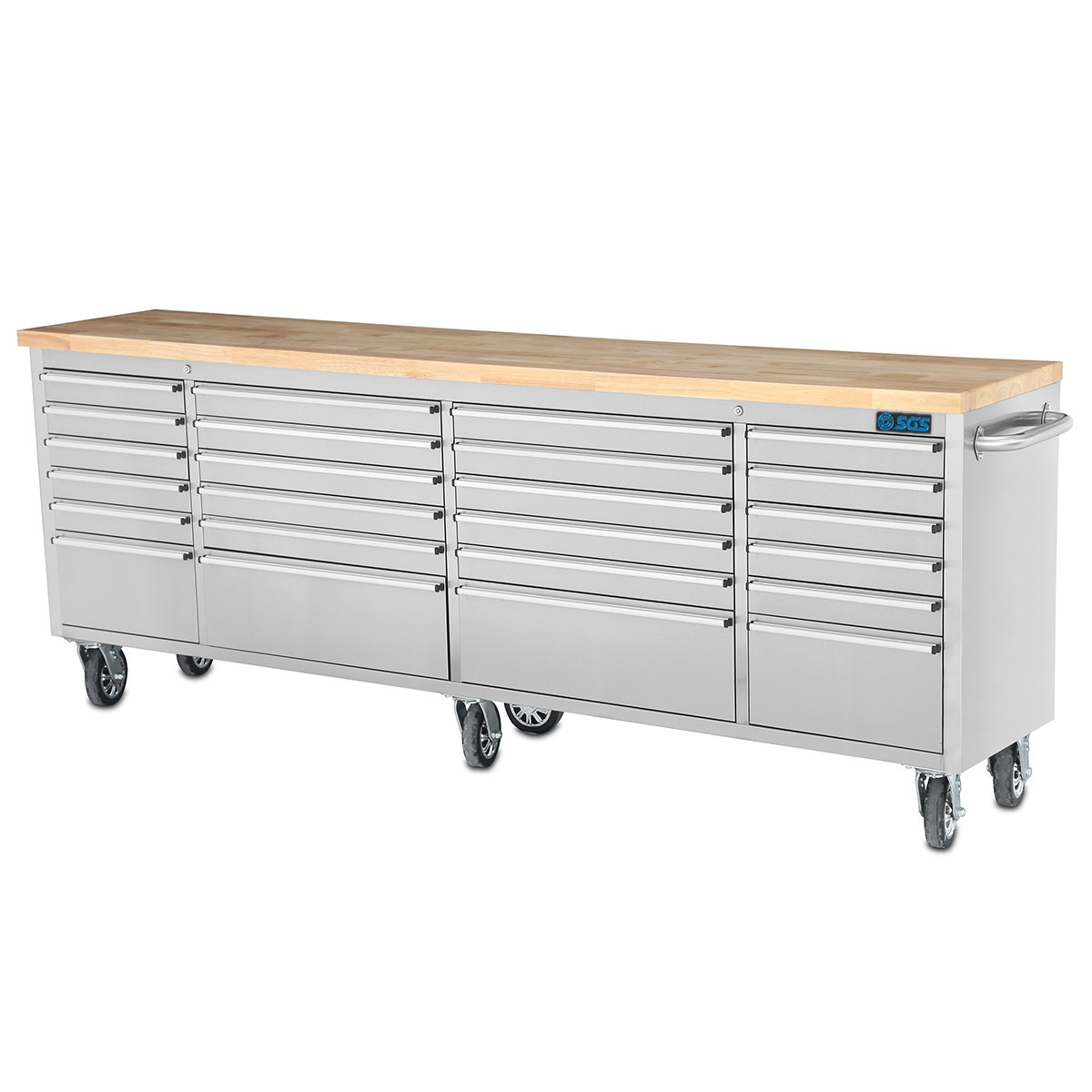 Admirable Sgs 96 Stainless Steel 24 Drawer Work Bench Tool Chest Cabinet Spiritservingveterans Wood Chair Design Ideas Spiritservingveteransorg