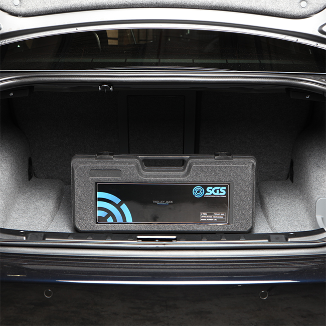 The case fits in your boot for those roadside emergencies