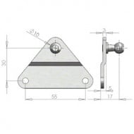 10mm Ball Stud Bracket