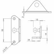90° 10mm Inside Ball Stud Bracket