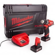Milwaukee M12FDD-602X M12 12v 44Nm Fuel Drill Driver, x2 6Ah Batteries, Charger and Case