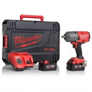 """Milwaukee M18FHIWF12-502X Gen2 18V 1/2"""" 1898Nm Impact Wrench with 2x 5Ah Batteries, Charger and Case"""