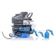SGS 24 Litre Direct Drive Air Compressor & 5 Piece Tool Kit - 9.6CFM, 2.5HP, 24L