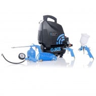 SGS 6 Litre Oil-Less Direct Drive Air Compressor & 5 Piece Tool Kit - 5.7CFM, 1.5HP, 6L
