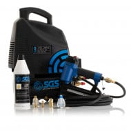 SGS 6 Litre Oil-Less Direct Drive Air Compressor & 2 in 1 Air Nail / Staple Gun - 5.7CFM, 1.5HP, 6L