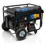 6.9 kVA Heavy Duty Portable Petrol Generator With Electric Start & Wheels