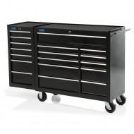 "58"" Professional 18 Drawer Tool Cabinet & Side Locker"