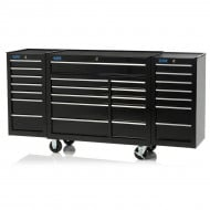"75"" Professional 25 Drawer Tool Cabinet & Side Locker"