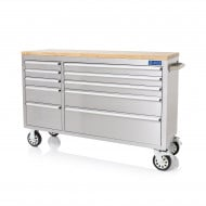 """SGS 55"""" Stainless Steel 10 Drawer Work Bench Tool Box Chest Cabinet"""