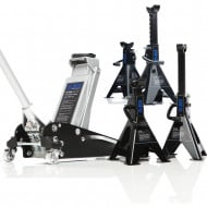 2.5 Ton Aluminium Racing Trolley Jack & Four Axle Stands
