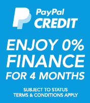 PayPal credit available on orders over £250