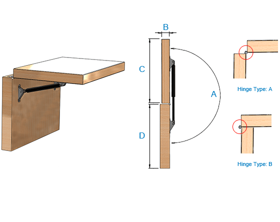 Counter flap / hatch with max access