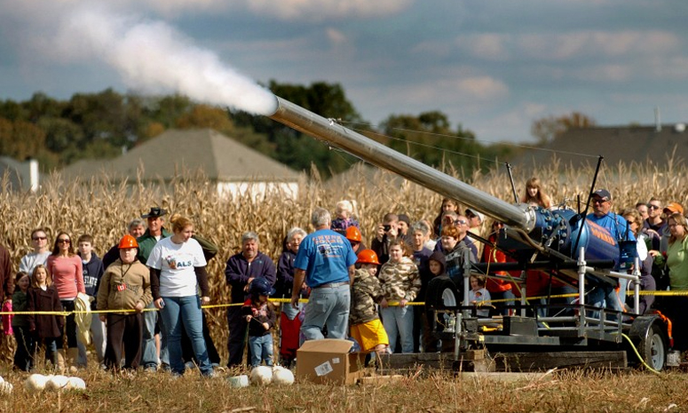 Pumpkin cannons