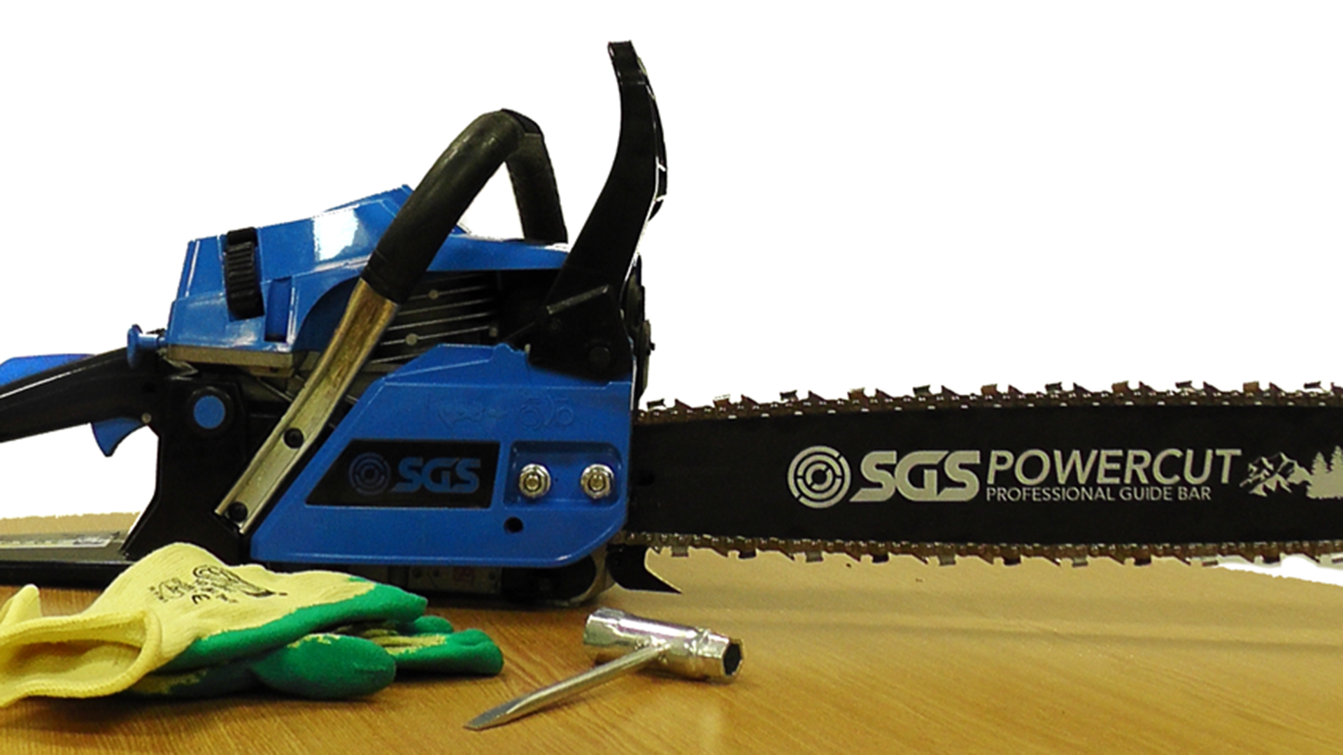 Now, you can fully tighten the nuts on the chainsaw's side plate and there you have it - your chain is now replaced.