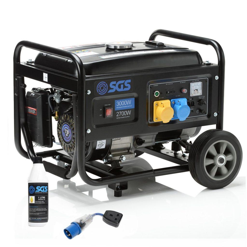 heavy duty 3000 W petrol powered generator