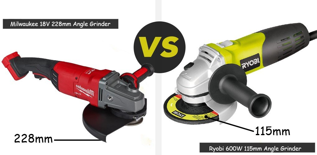 ryobi and milwaukee angle grinder