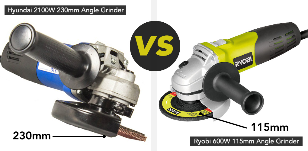 The bigger the grinder wheel, the more power the grinder will need, so if you're looking for a grinder with a 230mm head, keep an eye out for a higher wattage tool. A larger tool means you'll be able to quickly cover a larger surface area, so if you're going to be mainly cutting out mortar, or working with sheet materials and slabs, you might want to take a look at the Hyundai 2100W Corded 230mm Angle Grinder. with a no load speed of 12,000 rpm, the Hyundai utilises all 2100 watts of power to give you a high performing tool. A smaller 115mm angle grinder mean a more versatile power tool. With a smaller cutting disc you get a greater level of precision, so if you're wanting to be able to trim tiles to shape, sharpen blades, or cut and grind more intricate stone and metalwork projects, we'd suggest a 115mm grinder. These smaller tools tend to be more lightweight and a little easier to wield, regardless of your level of experience.