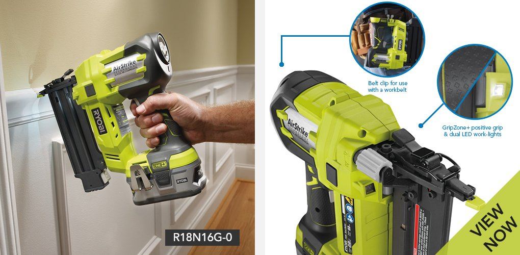 Weighing just 2.8kg and being cordless makes the Ryobi ONE+ Cordless 18 Gauge Airstrike Nailer ideal for carrying around the house and garden to tackle small tasks. The comfortable to hold GripZone+ positive grip handle further enhances its ease of use along with a belt clip so it can be attached to any work belt. Its 18 gauge size means nails with a 15 to 50mm maximum brad length can be used for various applications. A magazine capacity of 105 nails ensures you can drive in a lot at one time when required. Whether you need to work on a garden fence and decking outside, or some awkward indoor project, its features make this effortless. 500 32mm nails are included, with this nail gun having capacity for ones with a maximum size of 50mm. This makes it perfect for smaller tasks that require high levels of accuracy.
