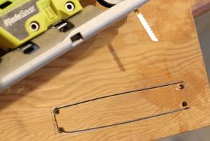 Starter holes jigsaw