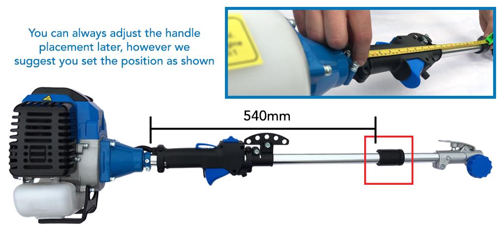 2 Set the handle position