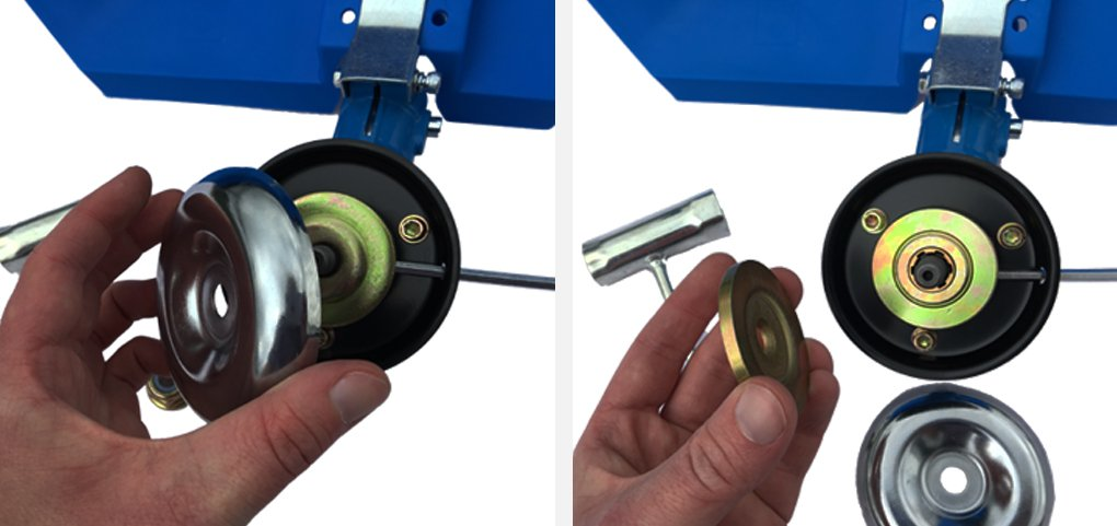 22 Remove the silver casing and first brass washer and keep safe