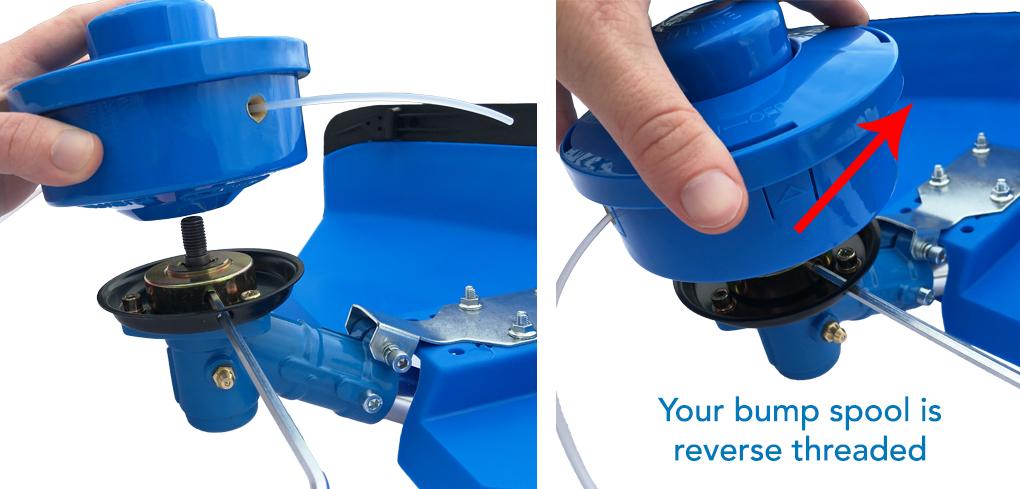 27 Attach the nylon bump spool