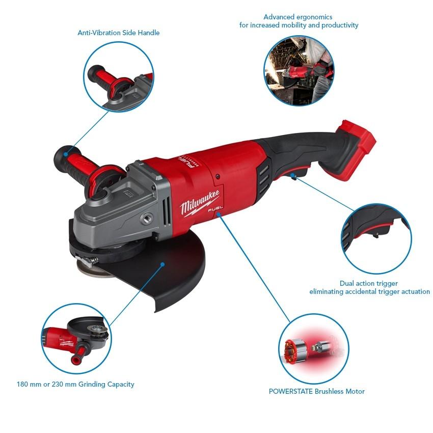 228mm angle grinder