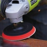 using an angle grinder