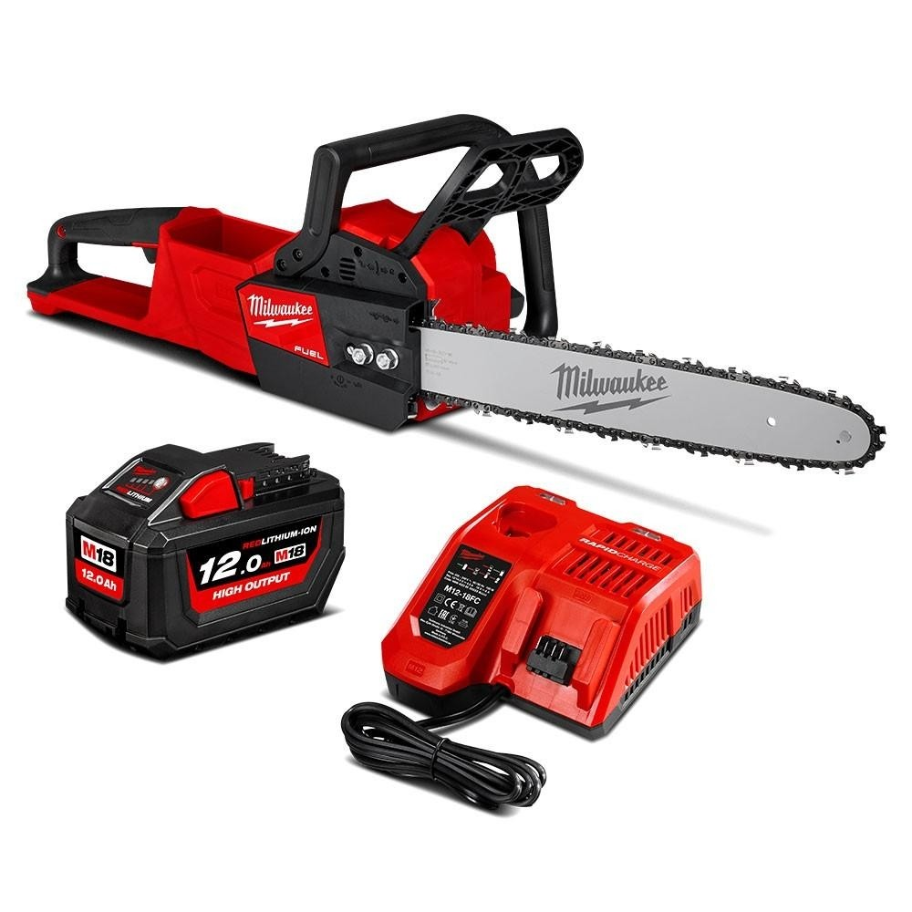18V battery powered chainsaws provide a green option while easy start. The unit is designed to meet the performance, durability and ergonomic needs of professional landscape maintenance.