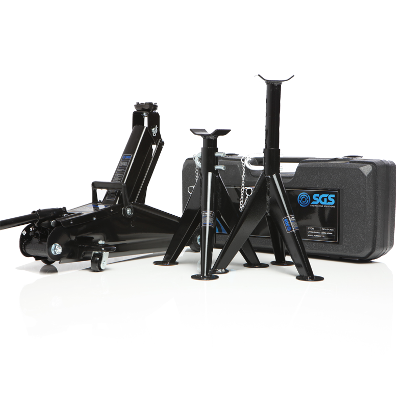 portable trolley jack with case